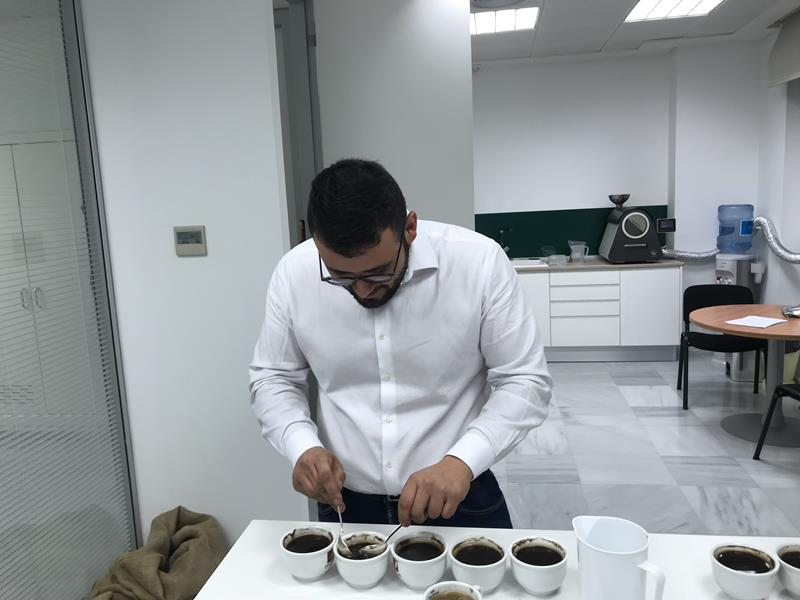 lavorazione del caffè verde